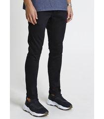 calça de sarja em moletom masculina skinny preta