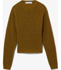 proenza schouler white label fine bouclé seamed sweater /green m