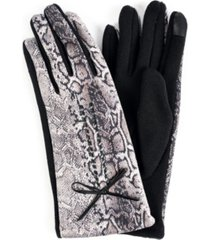 women's leopard jersey touchscreen glove