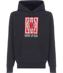 marcelo burlon rural cross cotton hoodie