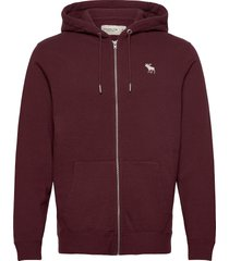 exploded icon sweatshirt hoodie trui rood abercrombie & fitch