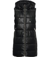onllydia faux leather waistcoat cs otw vests padded vests svart only