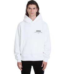 amiri amiri hoodie sweatshirt in white cotton