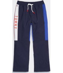 tommy hilfiger boy's adaptive colorblock track pant navy - 7