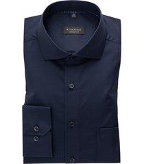 donkerblauw overhemd eterna comfort fit