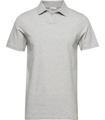 m. lycra polo t-shirt polos short-sleeved grijs filippa k