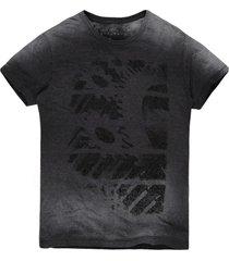 camiseta masculina devorê engrenagem grafite - kanui