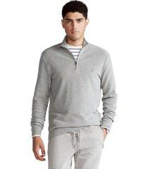 polo ralph lauren men's big & tall cotton quarter-zip sweater