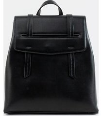blair basic flap backpack - black