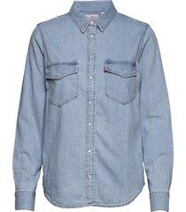 essential western cool out overhemd met lange mouwen blauw levi´s women