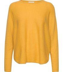 curved sweater gebreide trui geel davida cashmere