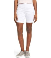 women's jag jeans gracie stretch cotton shorts, size 14 - white