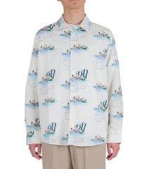 drôle de monsieur riviera picnic shirt