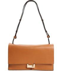 allsaints huasteca leather shoulder bag - brown