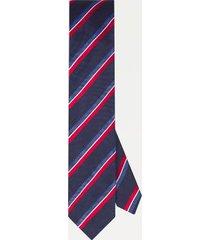 tommy hilfiger men's slim wid stripe tie navy/red/white -