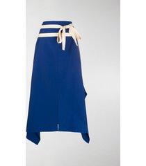 plan c high-waisted asymmetric skirt