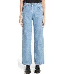 eckhaus latta el wide leg jeans, size 30 in true blue at nordstrom