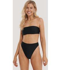 na-kd swimwear thin strap highcut bikini panty - black