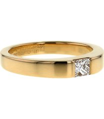 cartier 1997 pre-owned yellow gold small tank diamond ring
