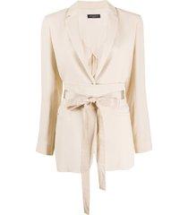 antonelli belted tailored blazer - neutrals