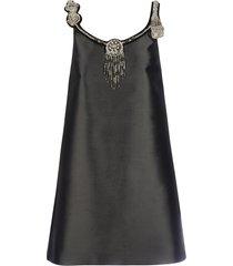 prada silk wool dress