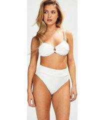 hunkemöller emily hög bikiniunderdel vit