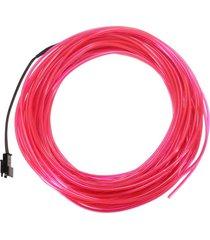 partido del coche de 20m suave flexible led luz de neón del resplandor de la lámpara el bandas para tubos cuerda de alambre - rosado