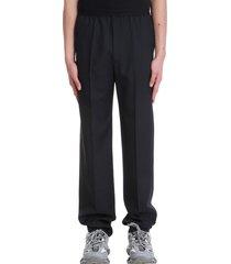 balenciaga pants in black wool