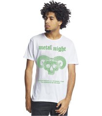 camiseta corte à fio metal night branca joss