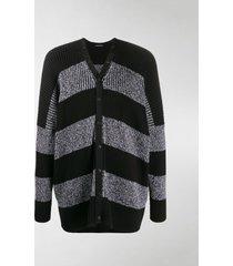 balenciaga striped button-front cardigan