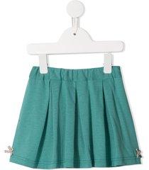 familiar flared jersey shorts - green