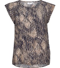 eleiasz top blouses short-sleeved svart saint tropez