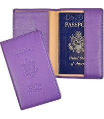 men's royce new york passport seal embossed rfid blocking passport case