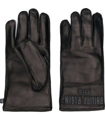 philipp plein short-length gloves - black