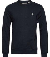 small logo sweatshirt sweat-shirt tröja blå original penguin
