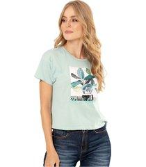 camiseta natural verde ragged pf51120547