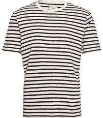 classic stripe tee t-shirts short-sleeved blå folk
