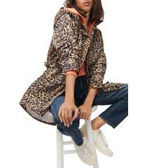 women's j.crew perfect leopard rain jacket