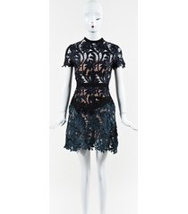 "self portrait floral lace ""prairie"" mini dress"