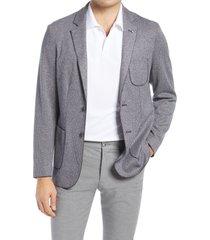 men's bugatchi houndstooth cotton & wool sport coat, size x-large - blue