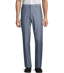 slim-fit chambray foundation pants