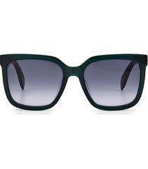 women's rag & bone 56mm square sunglasses - grey green/ dark grey gradient