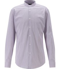 boss men's jordi slim-fit stand-collar easy-iron cotton shirt