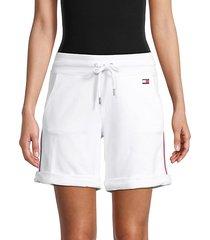 striped sweat shorts