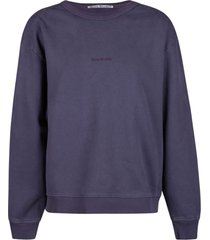 acne studios chest logo plain sweatshirt