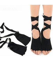 ballerina elastica respirabile ballare cinque tute yoga calze cotone naturale
