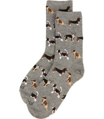 memoi dog toss women's novelty socks
