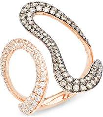 chocolatier® 14k strawberry gold® & chocolate and vanilla diamond® wrap ring