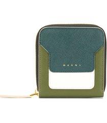 marni square zip-around wallet - green