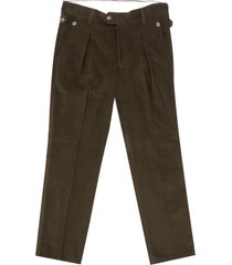 jj emlyn thomas needle corduroy trousers - khaki